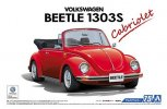 Aoshima 05572 - 1/24 Volkswagen 15ADK Beetle 1303S Cabriolet '75 The Model Car No.75